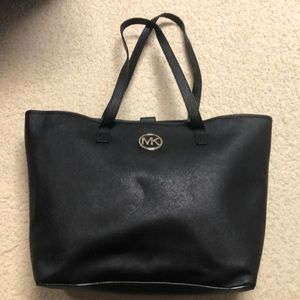 Michael Kors black purse with jeweled logo